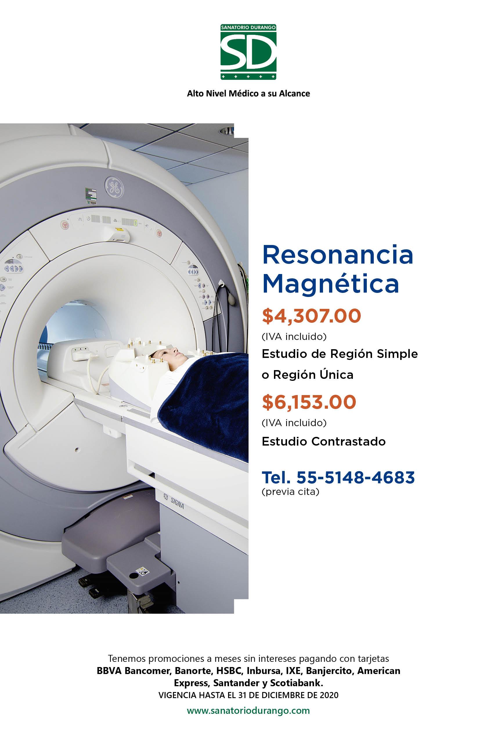 resonancia magnetica de encefalo simple costo